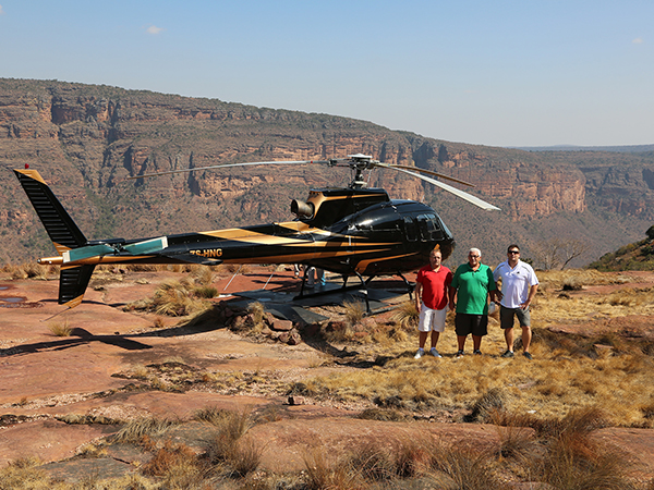 Helicopter excursions from Waterfall Lodge