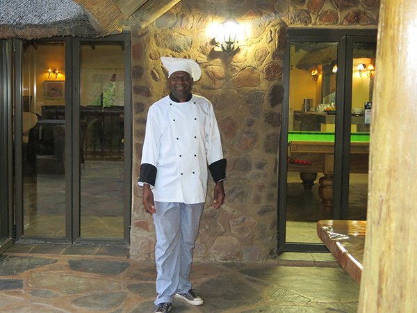 Waterfall Lodge head chef Wilson Ndou