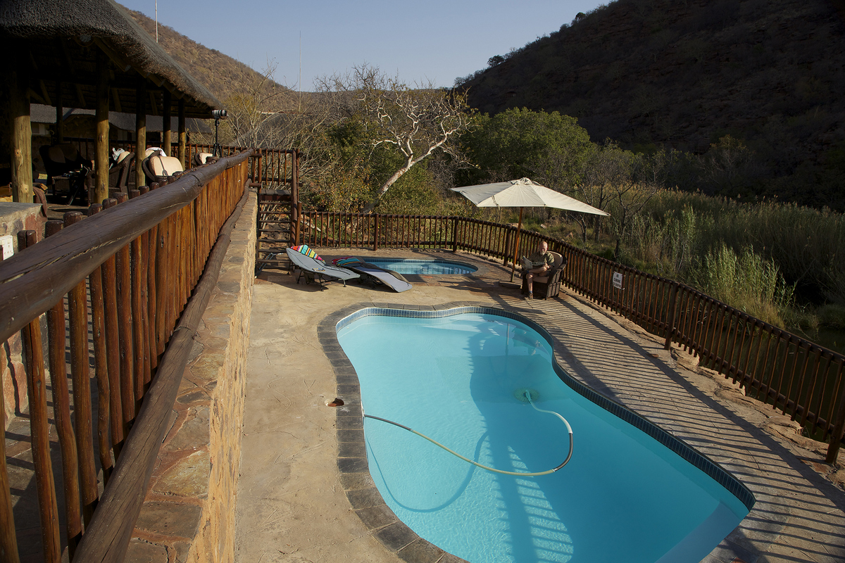 Waterfall Lodge pool area